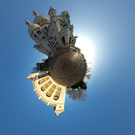 Stereographic mapping in Hugin