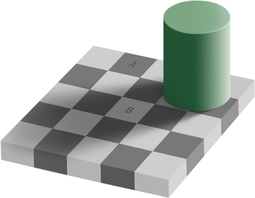 Square A and B are the same shade of grey!