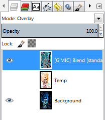 Set the resulting G'MIC output layer to Overlay blend mode.