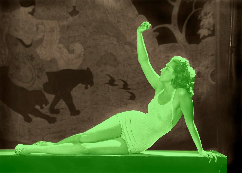Pat David Ziegfeld Follies Woman Reclining Plane