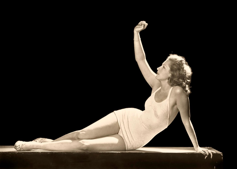 Pat David Ziegfeld Follies Woman Reclining Clean Transparent
